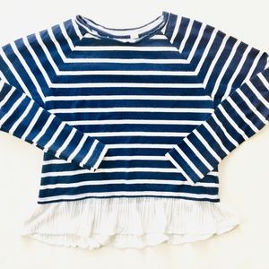 Gap Kids Navy Striped Long Sleeve with White Skirt